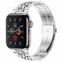 Curea Apple Watch 42-44 mm ,metalic steel silver ,compatibil seria 1/2/3/4/5/6