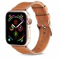 Curea Apple Watch 42-44 mm ,piele maro ,compatibil seria 1/2/3/4/5/6