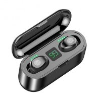 Casti Usmart F9 , WIRELESS, Bluetooth V5.0, muzica 4D, TOUCH control, black