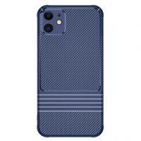Husa iPhone 11 max fibra de carbon -shockproof si anti-praf, albastru