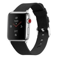 Curea Apple Watch Usmart 42-44 mm ,canvas black ,compatibil seria 1/2/3/4/5