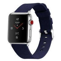 Curea Apple Watch Usmart 38-40 mm ,canvas blue ,compatibil seria 1/2/3/4/5