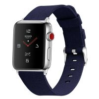 Curea Apple Watch Usmart 42-44 mm ,canvas blue ,compatibil seria 1/2/3/4/5