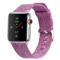 Curea Apple Watch Usmart 38-40 mm ,canvas pink ,compatibil seria 1/2/3/4/5