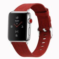 Curea Apple Watch Usmart 42-44 mm ,canvas red ,compatibil seria 1/2/3/4/5