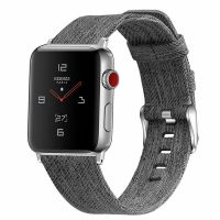Curea Apple Watch 42-44 mm ,canvas gray ,compatibil seria 1/2/3/4/5