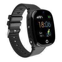 Ceas telefon Smartwatch rezistent la apa cu GPS pentru copii Usmart  M06 plus-negru