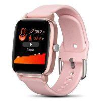 Ceas smartwatch Aipker  T98 pro  - sport band, multiple functii,termometru-roz