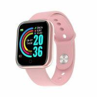 Ceas smartwatch Aipker  Y68-  sport band, multiple functii,social App-roz