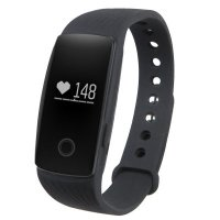 Bratara fitness bluetooth ID107- ritm cardiac-black