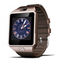 Smartwatch Usmart DZ09-plus, gold,cartela SIM,camera,notificari facebook,whatsApp