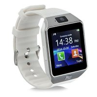 Ceas smartwatch  DZ09 PLUS-cartela SIM,camera,TF card-1.56 inch HD touchscreen-white