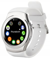 Ceas smartwatch  G3-cartela SIM-ritm cardiac,SIRI-1.3  inch HD touchscreen-white