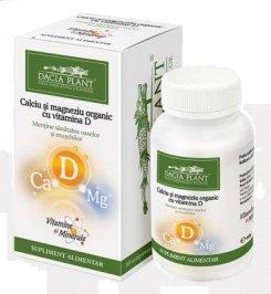 Calciu si Magneziu organic cu vit D 60cpr