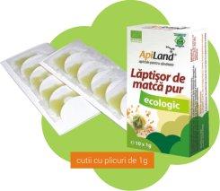 Laptisor de matca pur eco 10 plicuri (1gr)