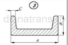 Șină transportator profil U 40x24x940 T088