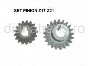 SET PINION Z17-Z21