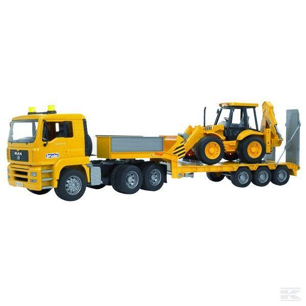 Camion MAN TGA cu JCB 4CX