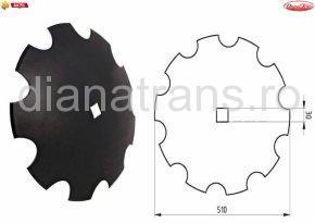 Taler disc crestat 510 30x30
