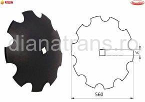 Taler disc crestat 560 36x36