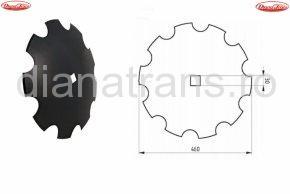 Taler disc crestat 460x30