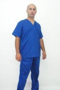 Uniforma din tercot albastru cerneala cu capse