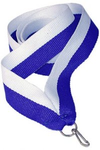 Panglica albastru cu alb