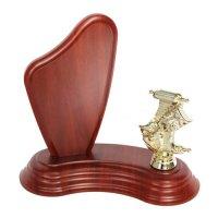 Trofeu lemn + Figurina la alegere (figurina nu este inclusa in pret)
