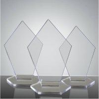 Trofeu sticla acrilica pentagon 3 marimi