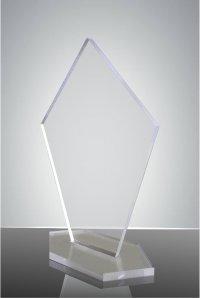 Trofeu sticla acrilica pentagon 1