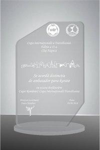 Trofeu sticla acrilica EAT02grav