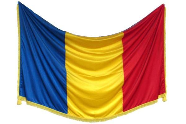 Drapel tricolor din matase