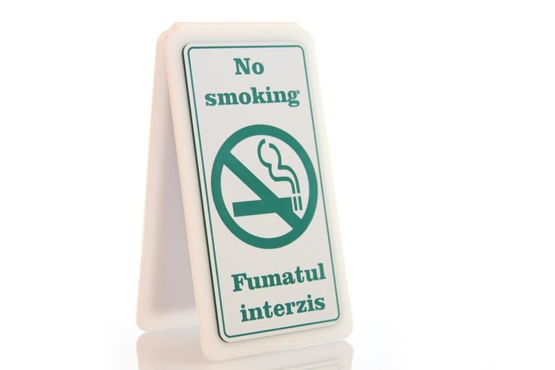Suport A 8/15 - Fumatul interzis!