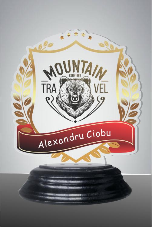 Trofeu sticla acrilica was 41TUV