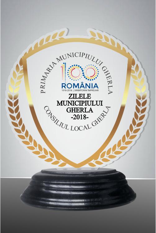 Trofeu sticla acrilica was 42TUV