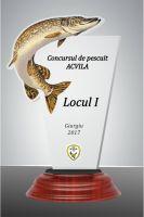 Trofeu acryl peste FISH01