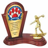 Trofeu lemn WF402Figurina Jucatoare Bowling 6552 MUV