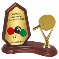 Trofeu lemn WF404Figurina PinPong F241 MUV