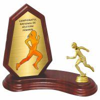 Trofeu lemn WF404Figurina Sportiva Atletism 414 MUV