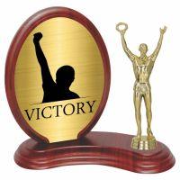 Trofeu lemn WF406+Figurină victorie F238