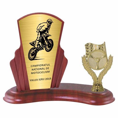 Trofeu lemn WF408Figurina motociclism F229 M