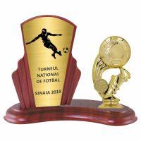 Trofeu lemn WF408+Figurină tematică fotbal F257