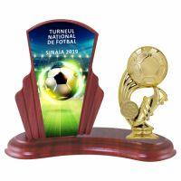 Trofeu lemn WF408Figurina tematica fotbal B325 UV