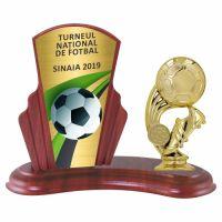 Trofeu lemn WF408Figurina tematica fotbal B325 MUV