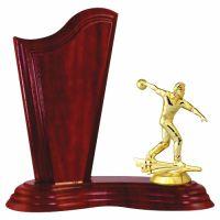 Trofeu lemn WF411Figurina Jucator Bowling Barbat 6551