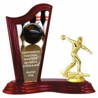 Trofeu lemn WF411Figurina Jucator Bowling Barbat 6551 UV