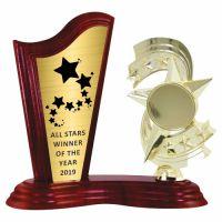 Trofeu lemn WF411+Figurină STEA F270