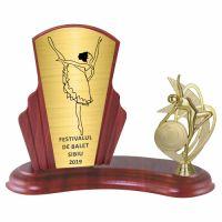 Trofeu lemn WF408+Figurină Dans F273