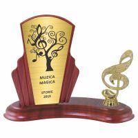 Trofeu lemn WF408+Figurină Muzică F157