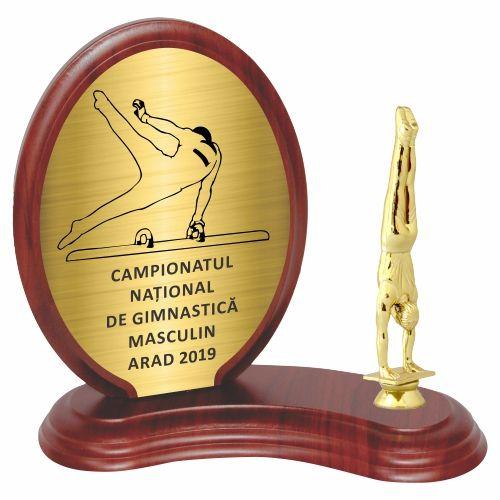 Trofeu lemn WF406Figurina Gimnast 8336 M